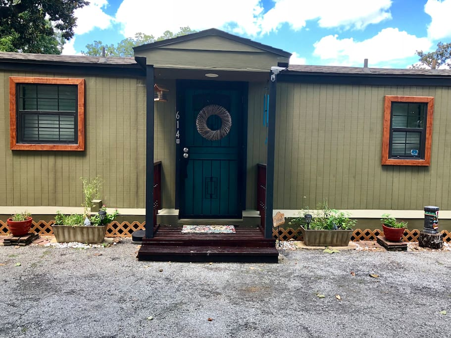 Front view of guest house