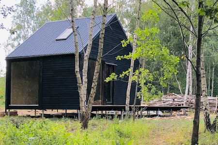 Eco-cottage by the lake in West Pomerania