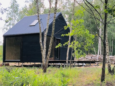 Year-round eco-cottage by the lake in W. Pomerania
