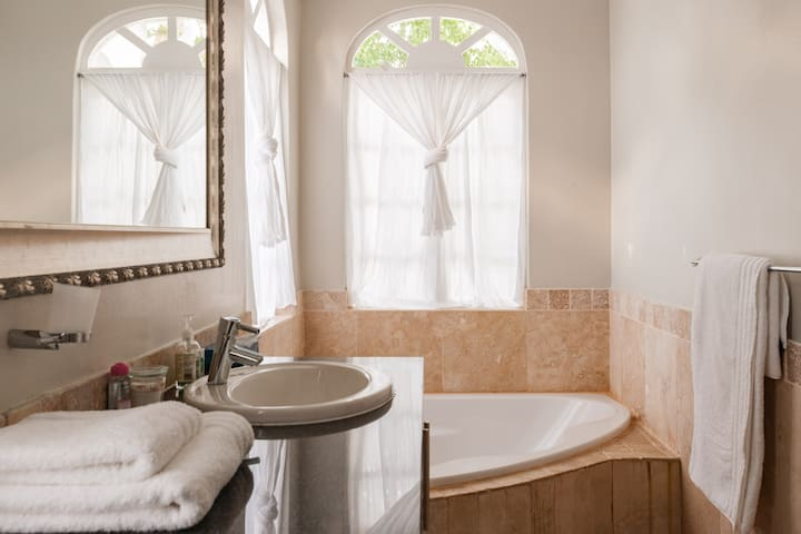 spacious luxury private bath and shower