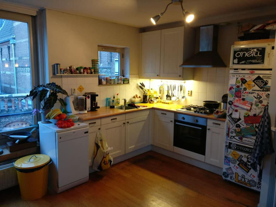 Shared kitchen incl. fridge, tea machine and cooking facilities...