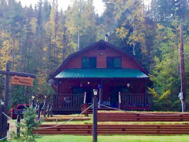 Beautiful cottage on sunny East Barriere Lake, BC.