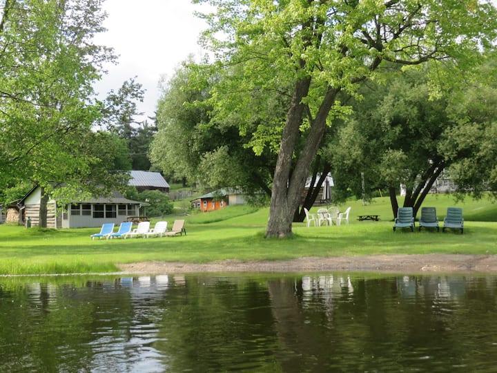 Log Cabin (Lower) on beautiful Ferguson Lake