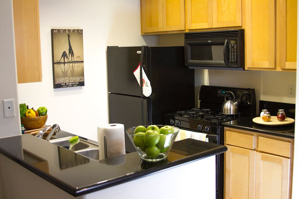 Spacious,fully equipped kitchen