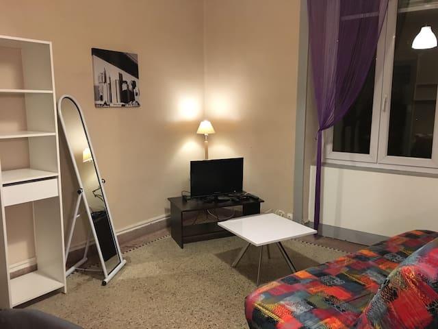 Studio meublé, proche centre ville - Montmorot - Apartment