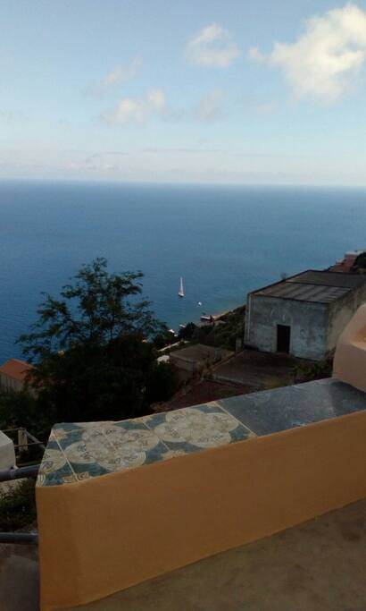 La vista della casa a mare