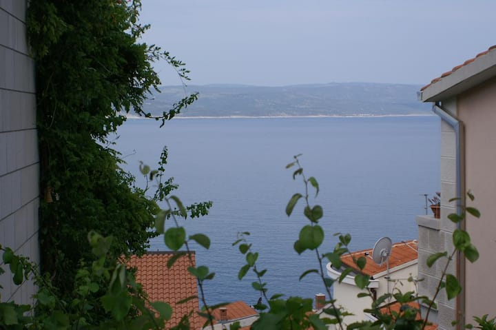 Two bedroom apartment with terrace and sea view Brela, Makarska (A-2752-a)