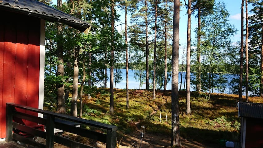 Haus am See, Sandstrand in 50 m, Sauna, Glasfaser