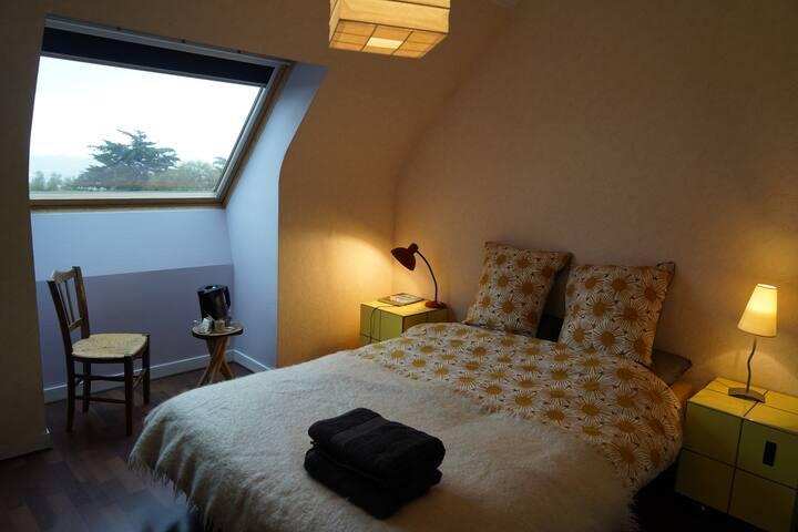 Chambre à côté de la plage de Goulien, Crozon