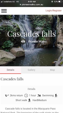 Local places : Cascades Waterfall 25 mins away