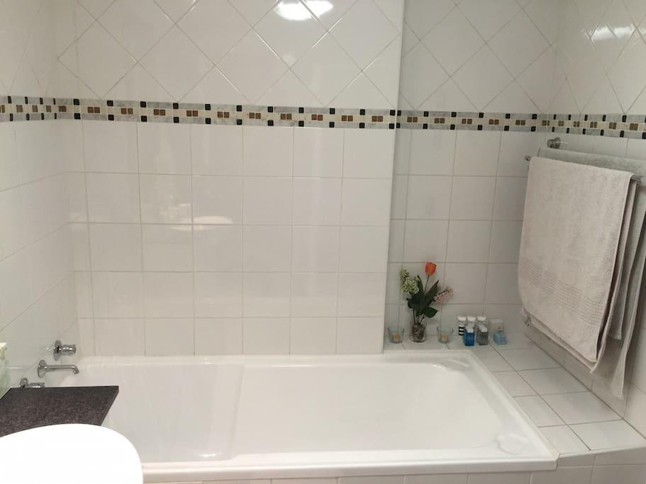 Bathtub (separate shower as well)