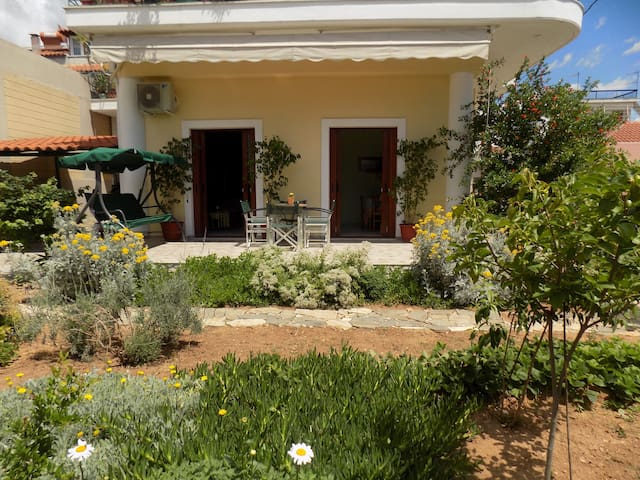 Family House with Sunny Garden View