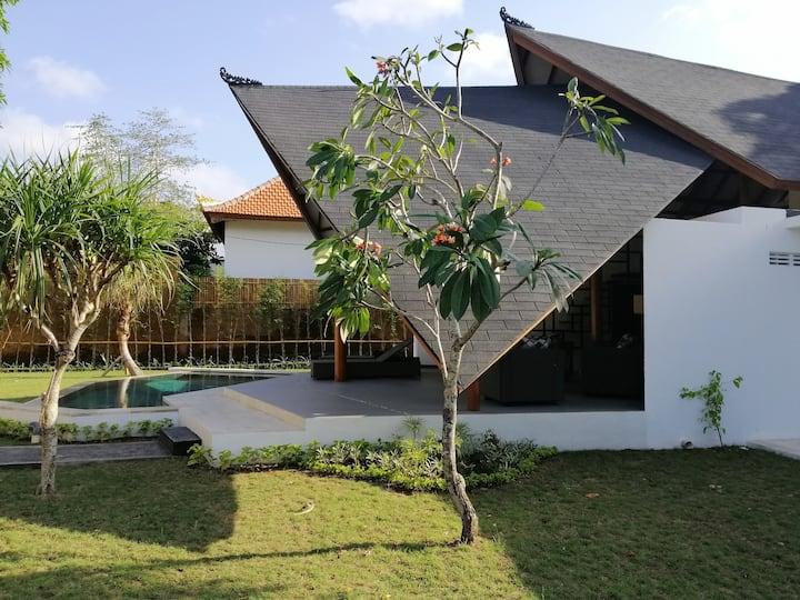 Rumah Cha-cha. Unique new modern balinese villa.