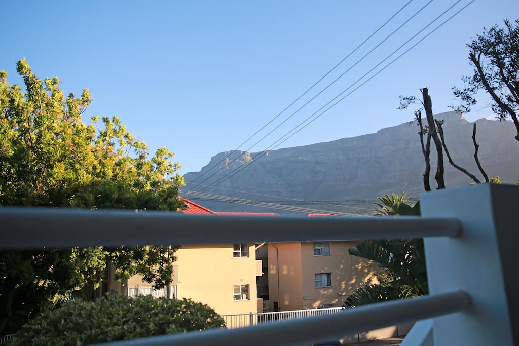 View of Table Mountain from the balcony