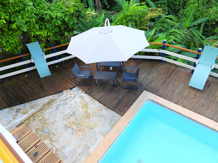 Villa with 3 bedrooms in Morne-À-l'Eau, with private pool, furnished garden and WiFi - 14 km from the beach