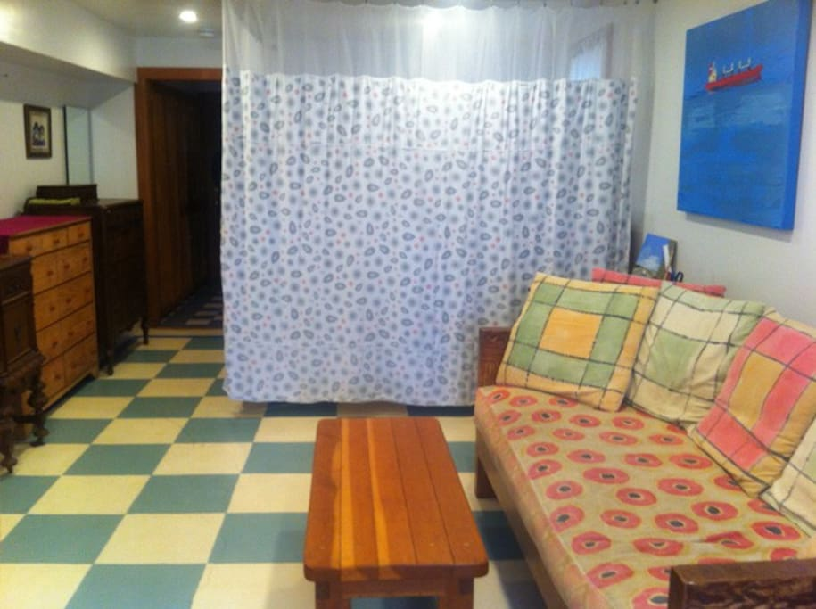 Bed curtain for privacy!