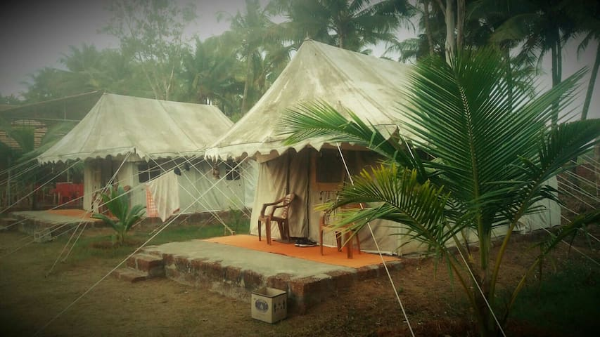 Two Swiss cottages Tent