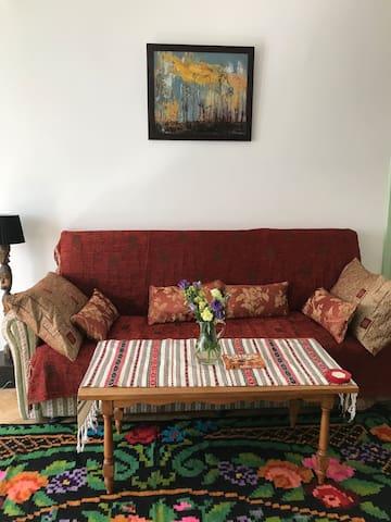 Living room - expandable sofa