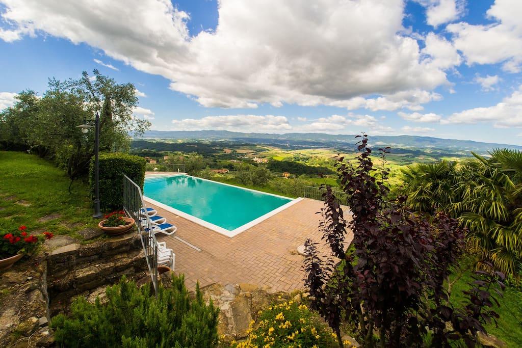 Villa Con Piscina Panoramica Ville In Affitto A Loro