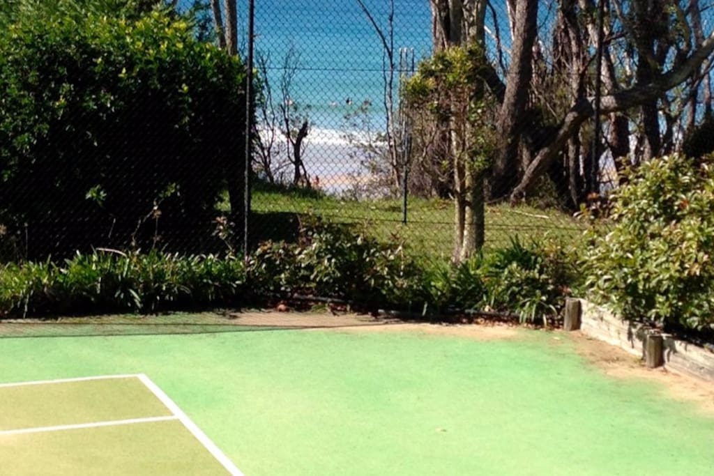 View from deck/ Tennis is a hit