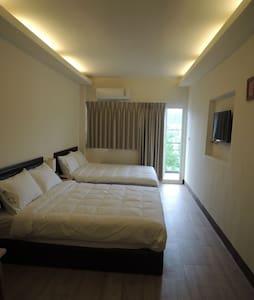 Cozy bedroom with 2 double beds. - Bed & Breakfast
