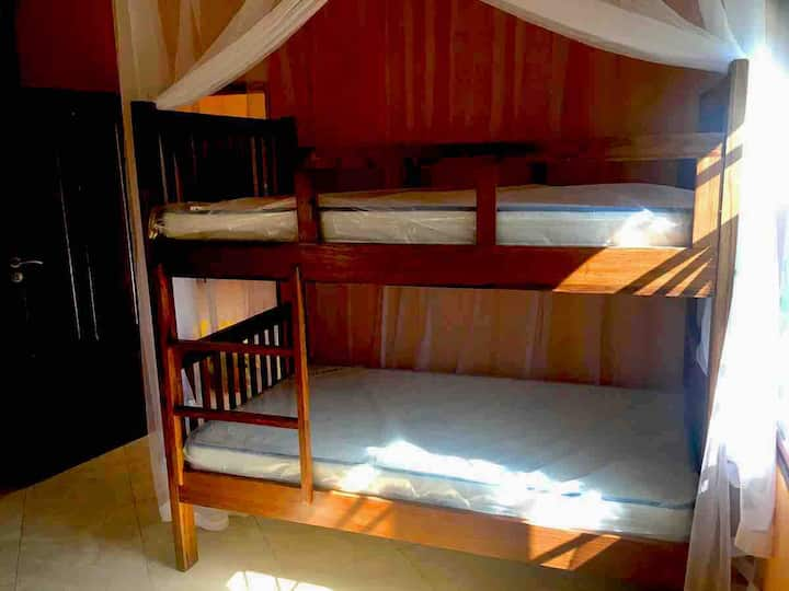 6 bed dorm room in a house owned by a NGO