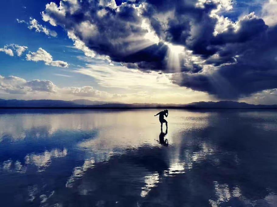 茶卡盐湖美景实拍