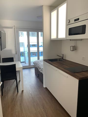 central&furnished Studio with Balcony and Parking