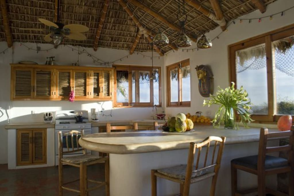 Main house ocean view kitchen