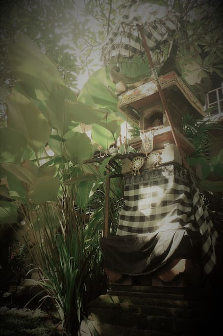 The temple by front of your room, the really Balinese Nature.