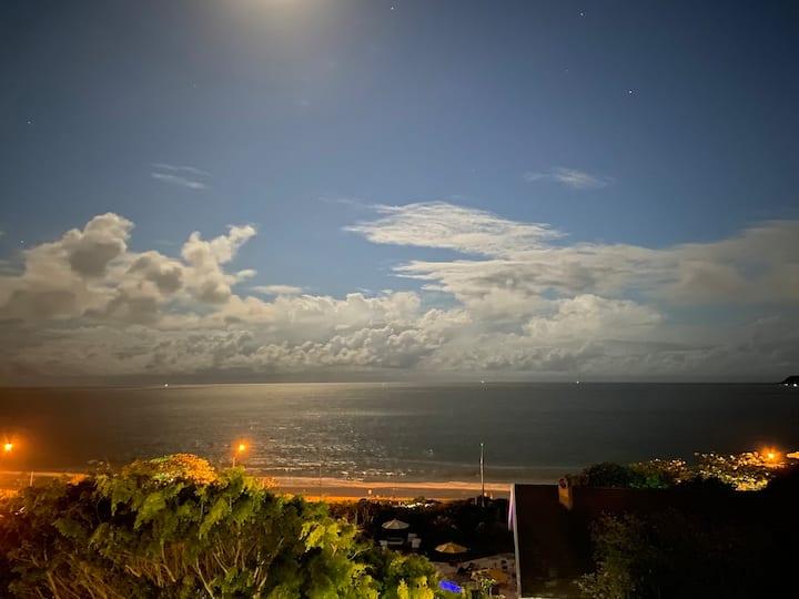 Frente Mar Vista Praia d'Armação   Wi-Fi 5G+SmarTV