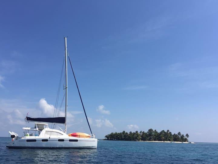 Sail Belize on Luna Sea, a 46 ft Leopard Catamaran
