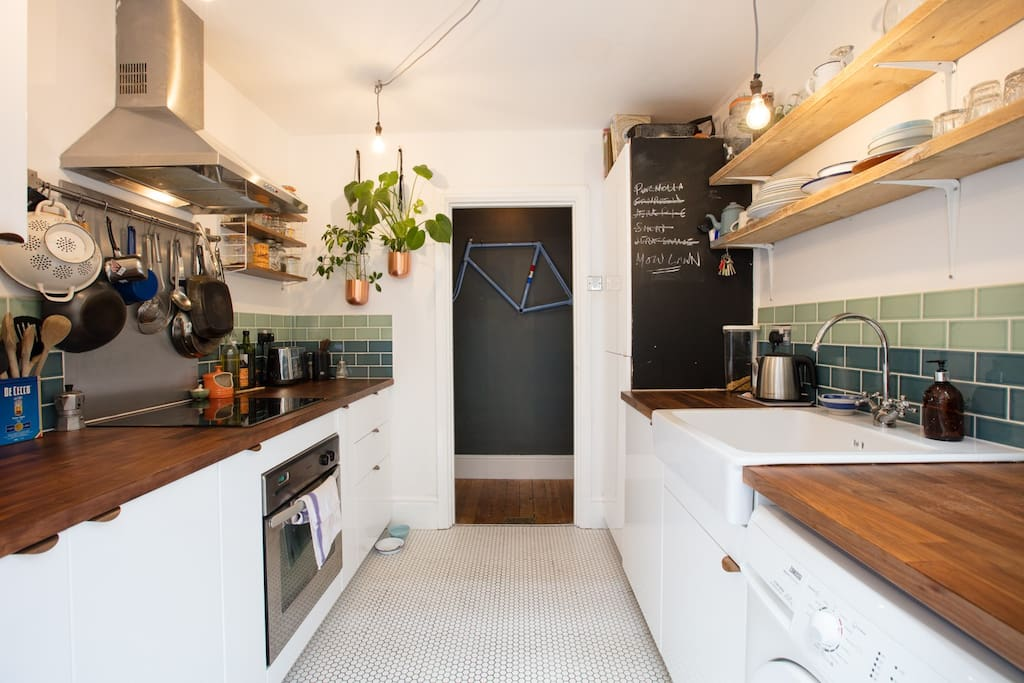 Kitchen - well equipped and free to use