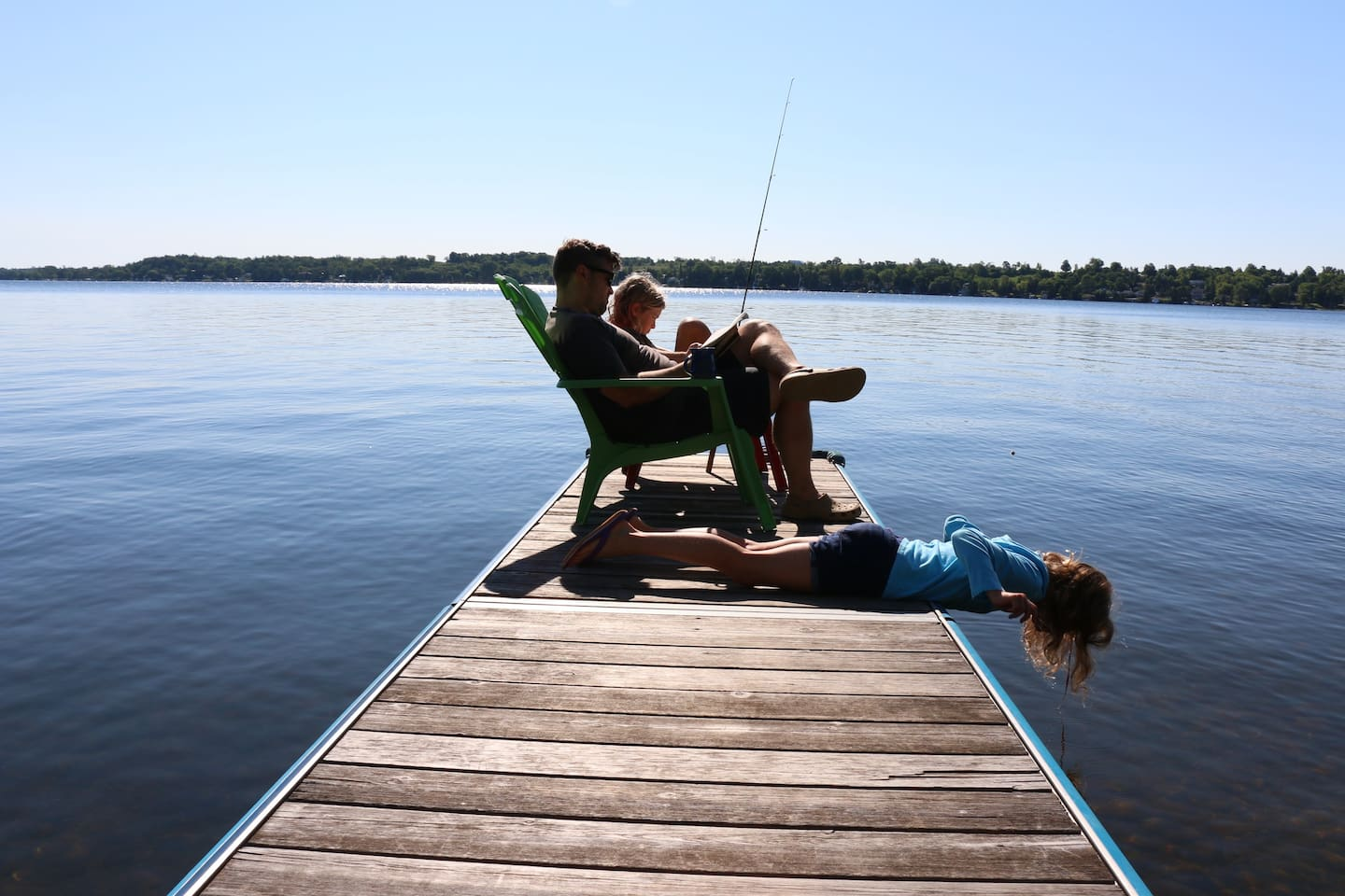 read, fish and relax on the dock