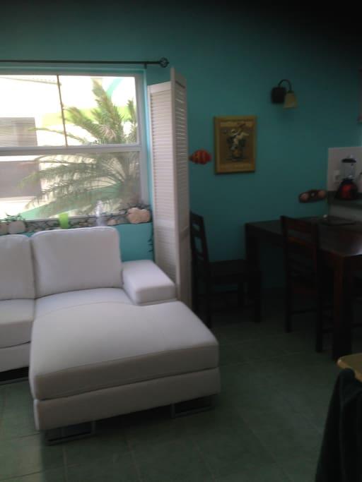 Lounge sofa on main floor
