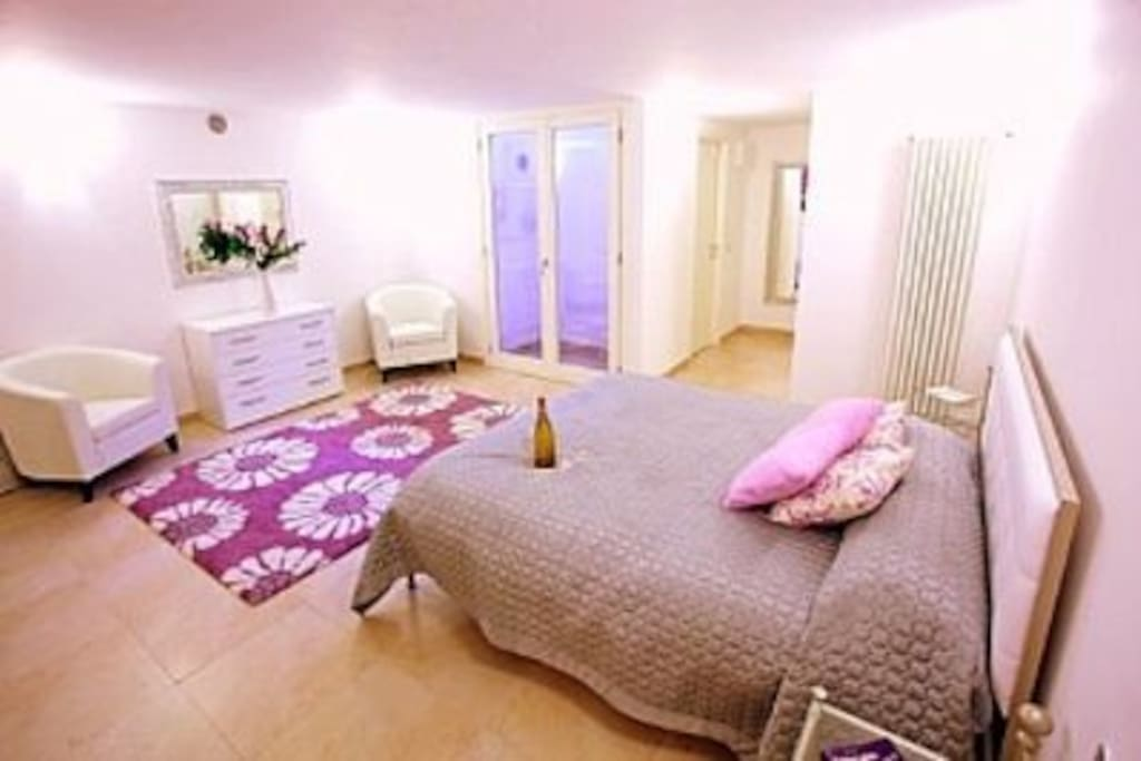 The secondary double bedroom is located downstairs