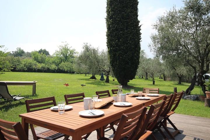 Villa Roseti - Lake view-Beach-10.000sqm garden