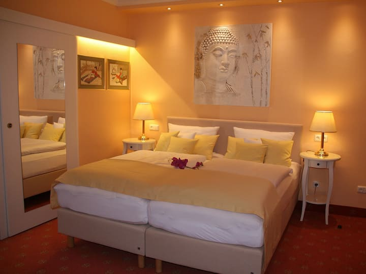 Hotel Modena (Bad Steben), Doppelzimmer in traditionsreicher Jugendstilvilla