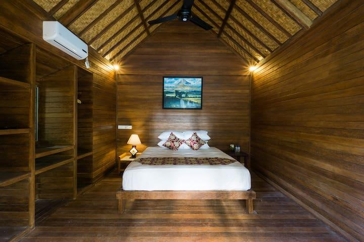 1 Bedroom @D'Lick Lembongan Coconut Wooden Villa3 - Nusapenida - Bungalow