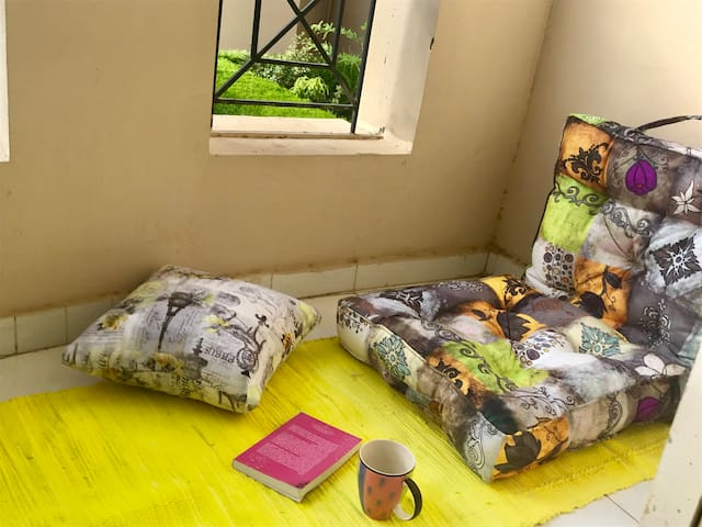 cosy simple home in a private compound ladies only