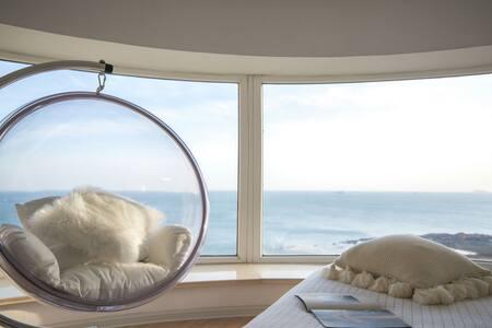 【鱼书】180度全视角超级海景体验&八大关景区&第一海水浴场&公主楼&花石楼&海边的渡假公寓