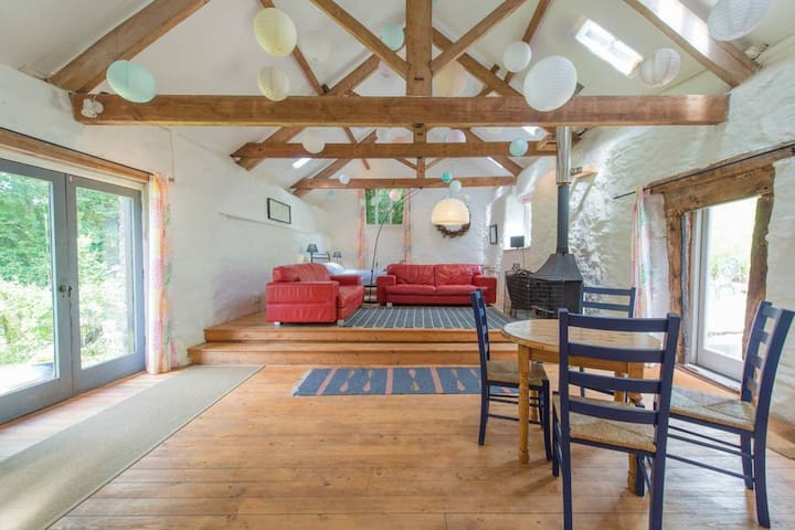 Spacious studio barn, Doverhay Farm, Exmoor.