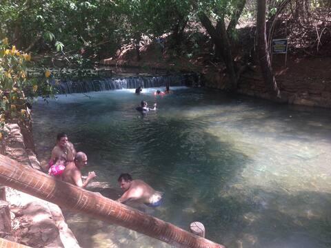 Um rio de água quente...!