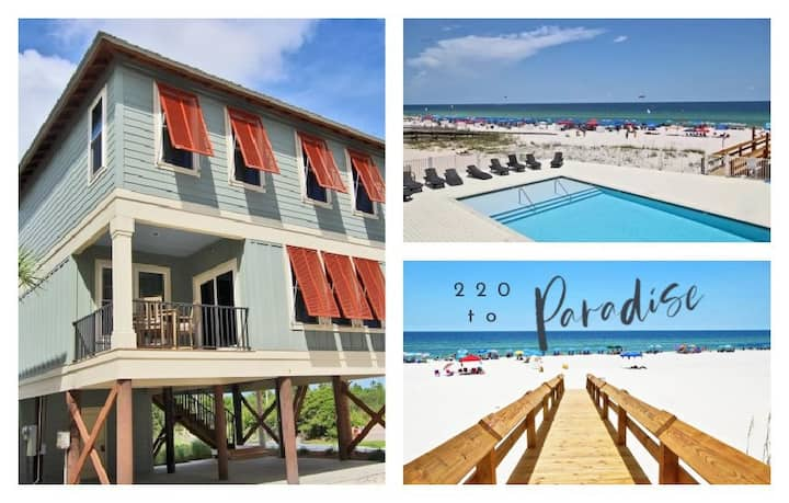 Hammock Dunes A  2 Br 3 Ba New Beachside Cottage 220 steps from the sand! ** Great Rate on the month of Jan. **