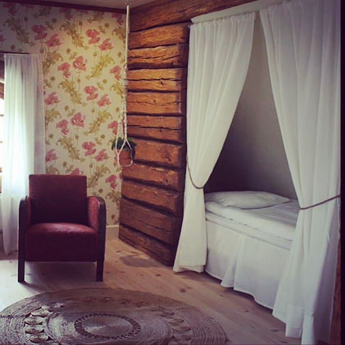Ett av sovrummen uppe