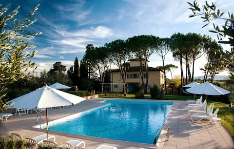 Apartment  with garden view vineyards pool Chianti