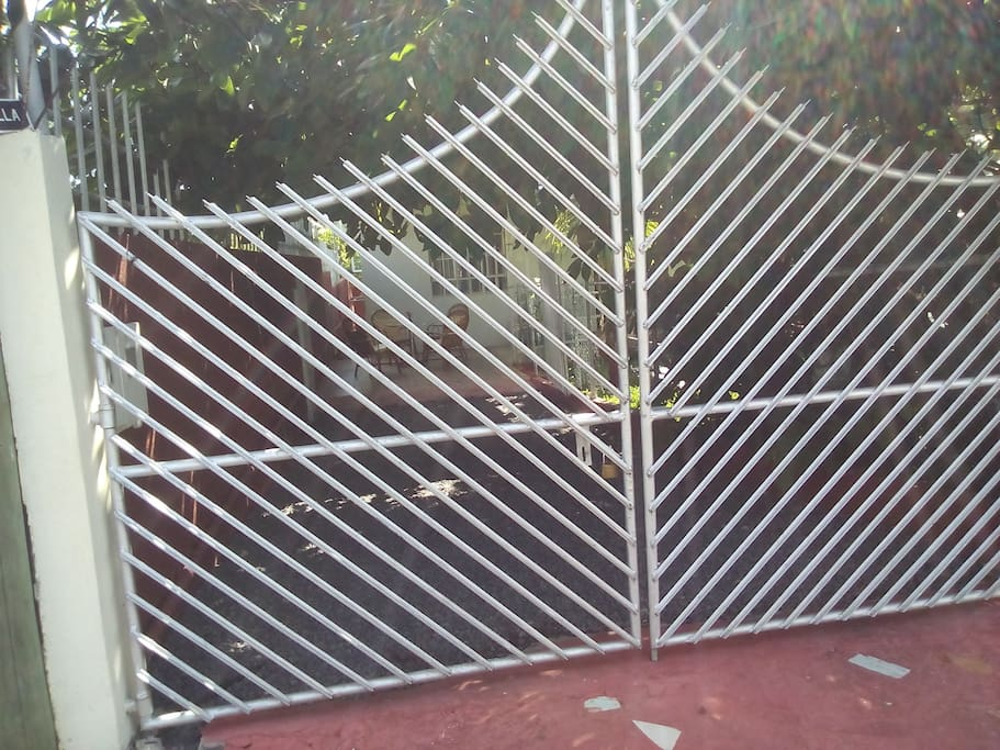 Locked Front gate for safety and privacy