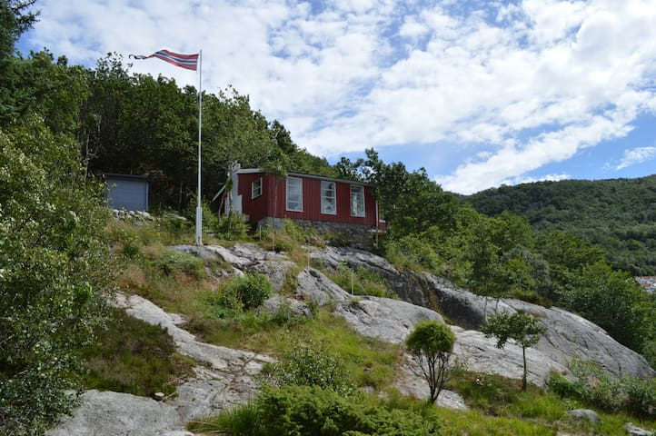Norwegian cabin, 180 degree panoramic fjord view - Sandnes - Houten huisje
