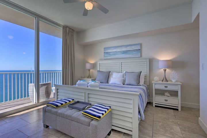 Incredible Views from this Stunning Beachfront Penthouse. Walk to Pier Park!