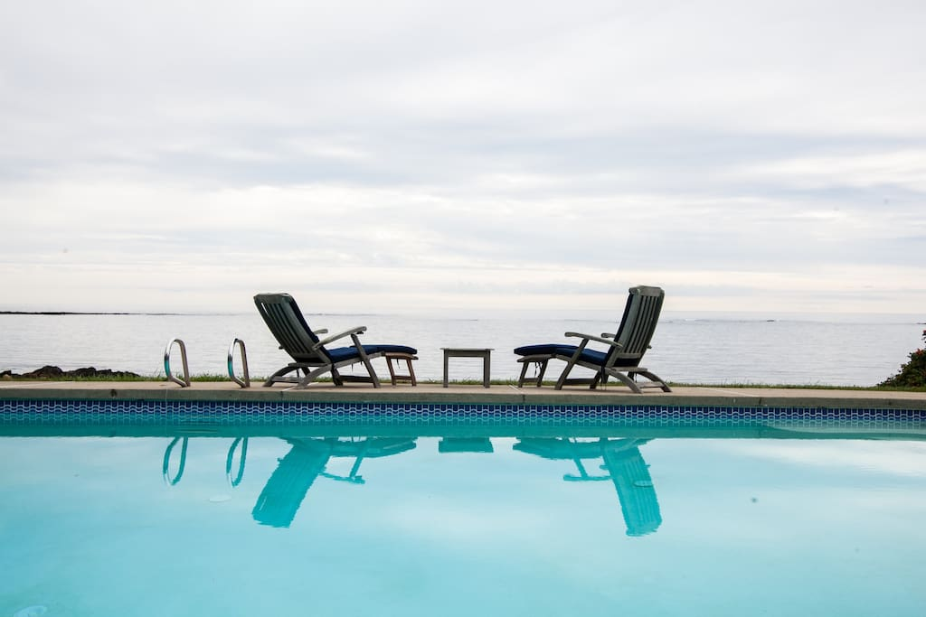 The heated pool is a great place to enjoy the view